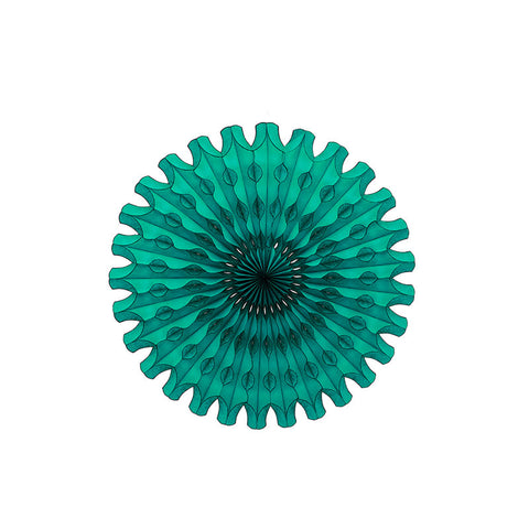 teal tissue paper fan party supplies australia
