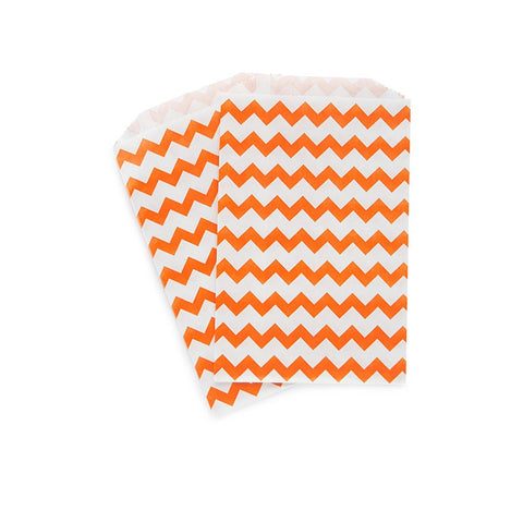 Orange Chevron Paper Bags Australia