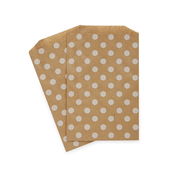 White Polka Dot on Kraft Paper Bags Australia