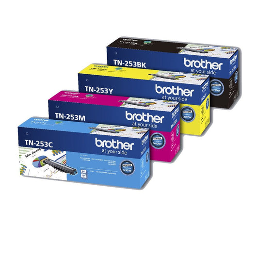 1 x SET Brother TN-253 BCMY Toner Cartridges - 2,500 | 1,300 pages