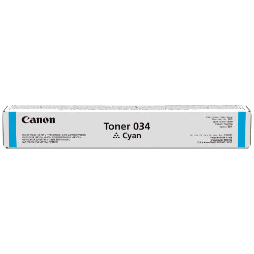 CANON #CART034C CYAN TONER UP TO 7,300 PAGES