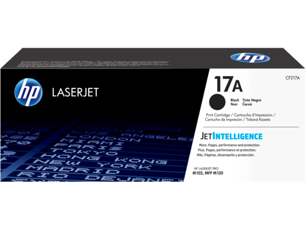 HP CF217A / 17A Black Toner ~1,600 Pages For Laserjet Pro M102A M102W MFP M130A M130FN M130FW M130NW