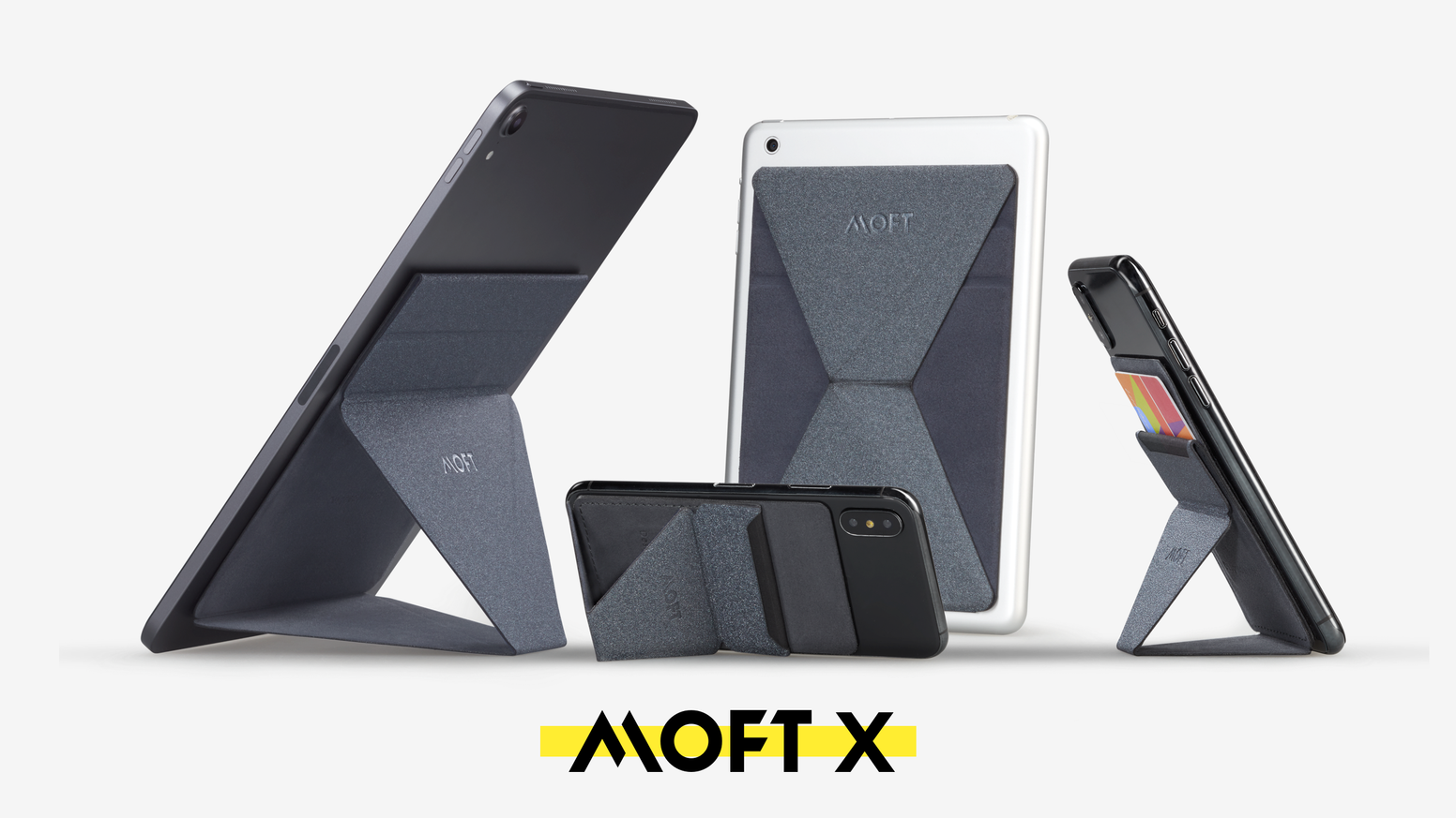 MOFT X Black - [AU Stock] Invisible and Foldaway Mobile Stand | Ultra-Light Phone Wallet, Car Phone Holder