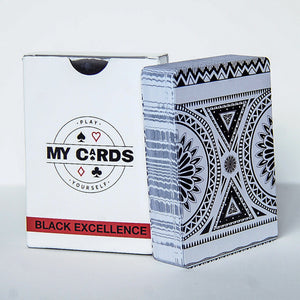 My Cards Black Excellence Box and Full Playing Cards Deck Display