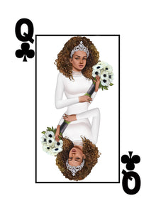 My Cards Black Excellence Black Queen of Clubs