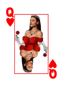 My Cards Black Excellence Queen Michelle Obama Queen of Hearts