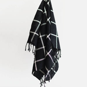 Oversized Grid Hand Towel