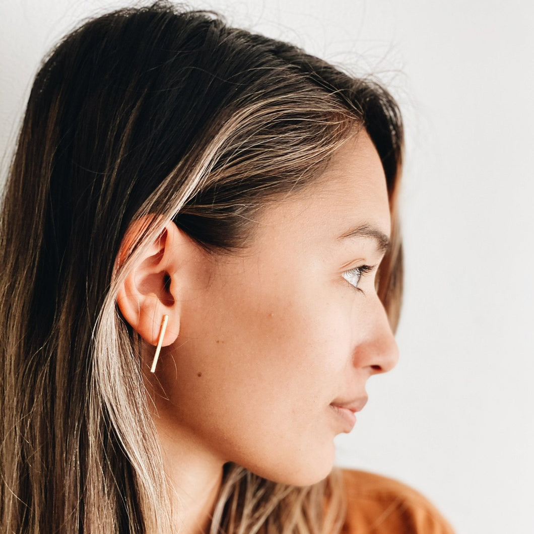 Slim Bar Earrings