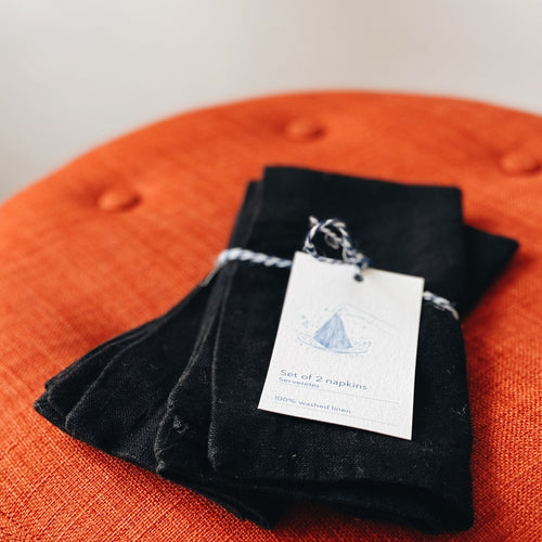 Black Linen Napkins