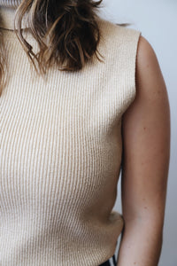 Gold Turtleneck Sweater