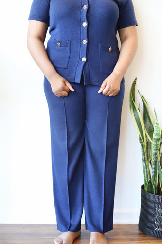 Vintage Navy Sweater Suit