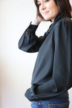 Black Layered Neck Blouse