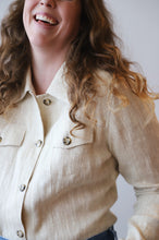 Natural Linen Blouse