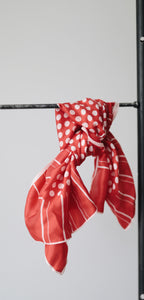 Red + White Polka Dot Scarf