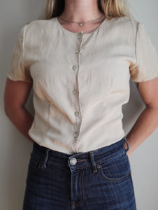 Tan Silk Blouse