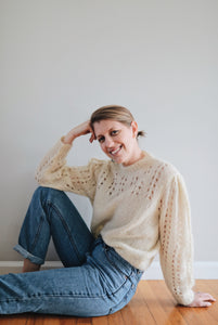 Hand-knit Ivory Sweater