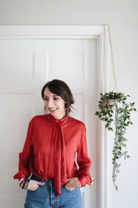 Vintage Red Blouse