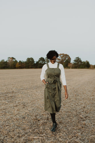Olive Cotton Jumper