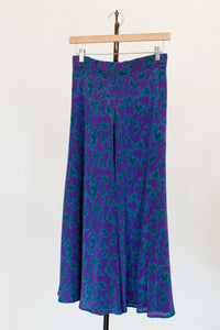Vintage Plus-Size Silk Skirt