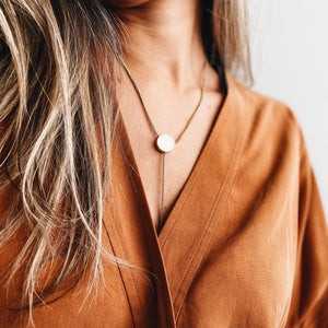 Quiet Lariat Necklace