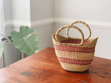 Little Market Striped Basket
