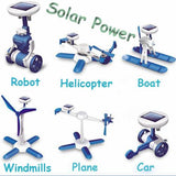 Solar power 6 in 1 kit toy DIY educational powered Toys kits Cars Robot Boat