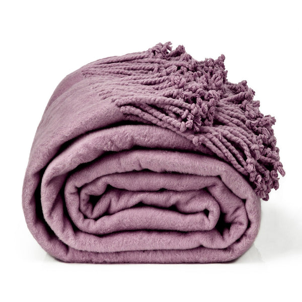 Royal Comfort Egyptian cotton throw blanket Mauve