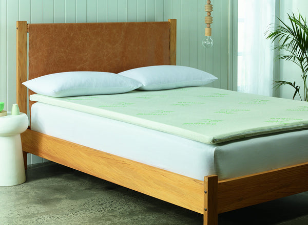 Royal Comfort Bamboo Memory Foam Topper- Double