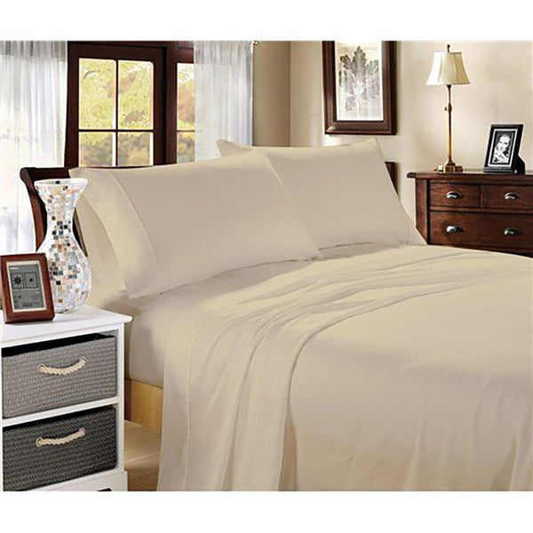Ddecor Home 1000tc Cotton Blend Sheet sets Queen - sand dust