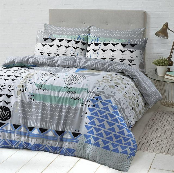 Style & Co 100 % Cotton Reversible Quilt Cover Set Single Sassy