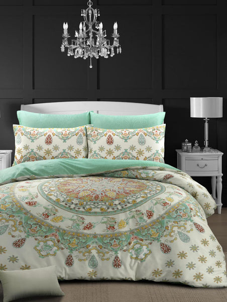 Style & Co 100 % Cotton Reversible Quilt Cover Set Single Mandella
