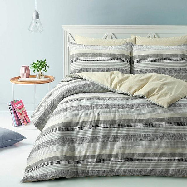Style & Co 100 % Cotton Reversible Quilt Cover Set Super King Limped