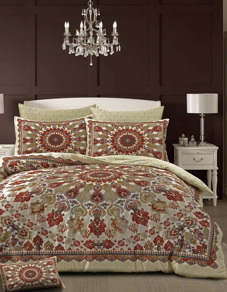 Style & Co 100 % Cotton Reversible Quilt Cover Set Super King Medallion
