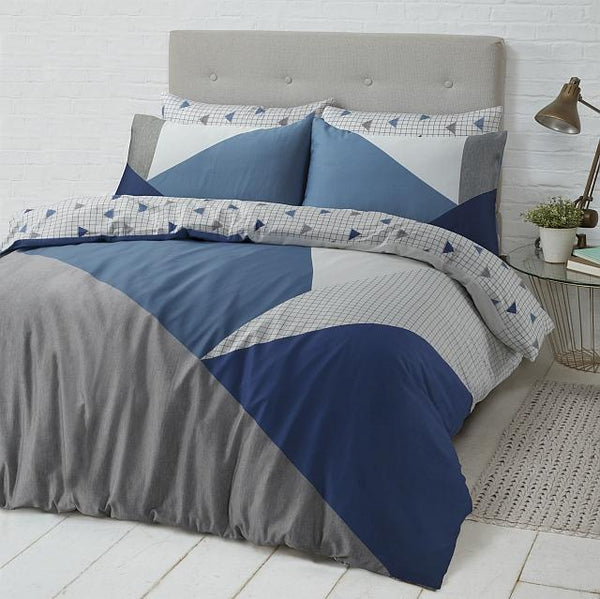 Style & Co 100 % Cotton Reversible Quilt Cover Set Super King Spliced