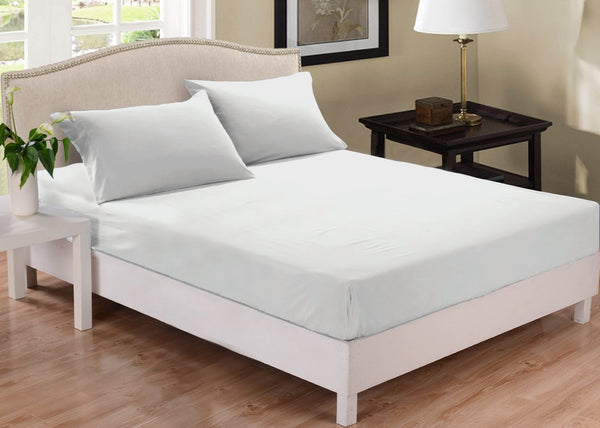 Park Avenue 1000 Thread Count Cotton Blend Combo Set Queen Bed White