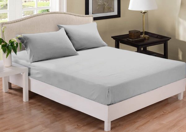 Park Avenue 1000 Thread Count Cotton Blend Combo Set Queen Bed Silver