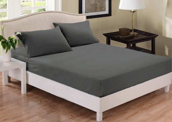 Park Avenue 1000 Thread Count Cotton Blend Combo Set Queen Bed Charcoal