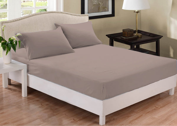 Park Avenue 1000 Thread Count Cotton Blend Combo Set Queen Bed Pewter