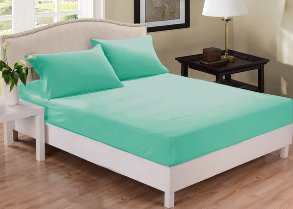Park Avenue 1000 Thread Count Cotton Blend Combo Set Mega King Bed Mist