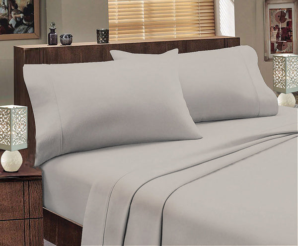 Park Avenue 175 GSM Egyptian Cotton Flannelette Sheet Set Mega Queen Bed Graphite