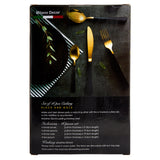 Milano Decor Set of 16pcs S/S Cutlery -Black and Gold