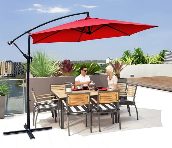 Milano Outdoor 3-Metre Cantilever Umbrella - Various Colours