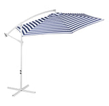 Outdoor Umbrella - Blue and White Stripe