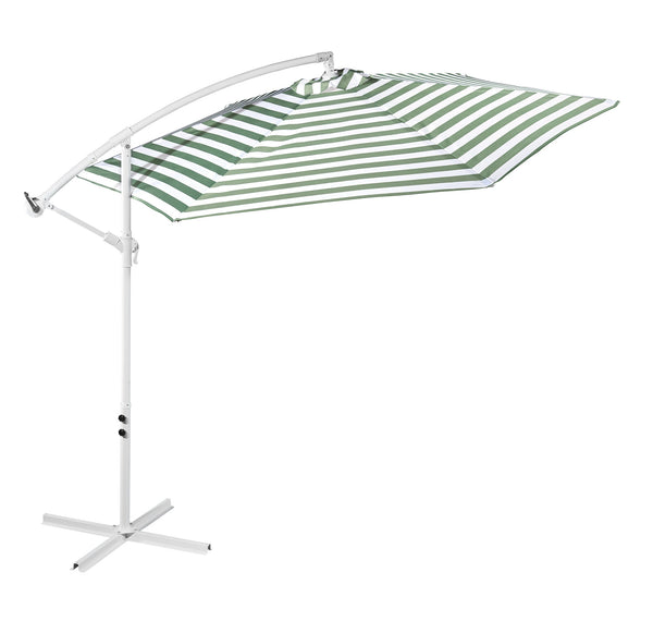 Outdoor Umbrella - Green and WhiteStripe
