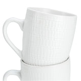 Milano Decor 6 Pcs Mug Set  - White