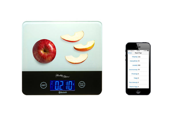 BLUETOOTHSMART KITCHEN SCALE – find out how nutritious and healthy is the food you are eating
