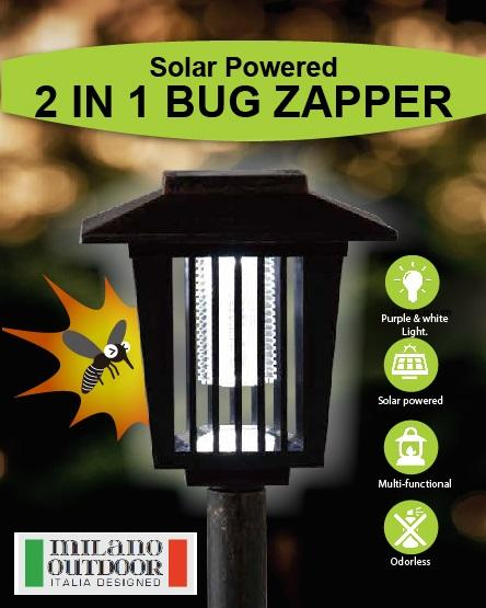2 in 1 Solar Bug Zapper and Garden Light