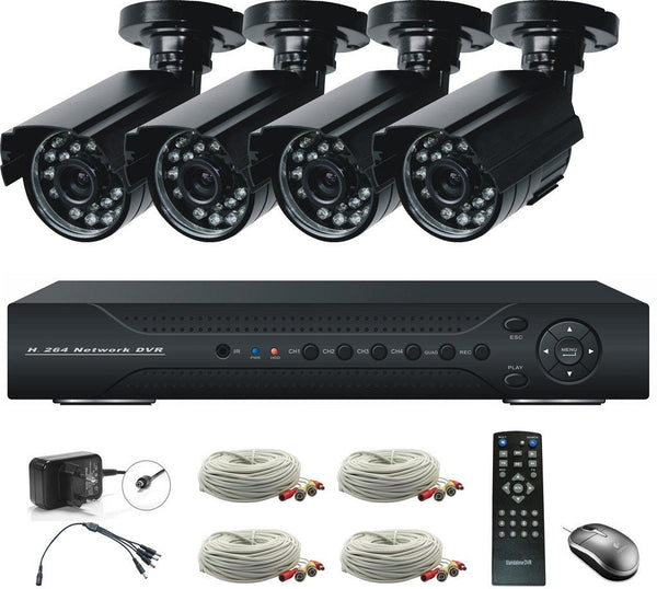 Home Surveillance System 4 Channel Cameras 720p