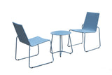 Milano Outdoor Steel/Rattan 3 Piece Blue Coffee Set