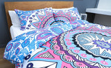 MANDALA QUILT COVER SET -KING ESPLANADE + Duck Pillow